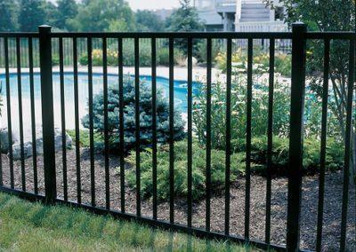 2 Rail Ornamental Iron Semi-privacy Fences