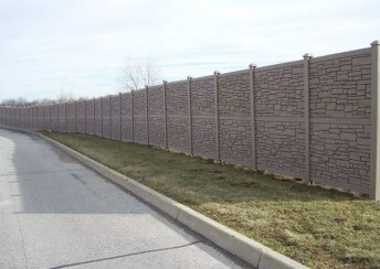 Brown Granite Ecostone Privacy Fences