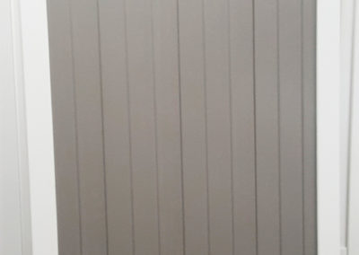 2 Tone White and Grey Privacy Vinyl Fence