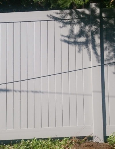 Slate Gray Privacy Fence