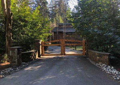 14' Double Drive Arch Top Rail Gate, Western Red Cedar, S4S