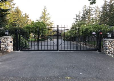 14' AFS Series B Double Drive Automatic Gate, Municipal Grade, 6' to 7' to 6' Bell Curve