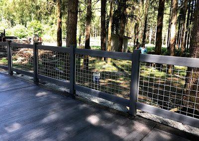4' tall Ranch Rail Hog panel fence, Bufftech CertaGrain in Arctic Blend