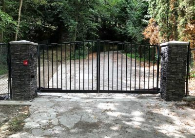 Angle Top Double Drive Automatic Gate
