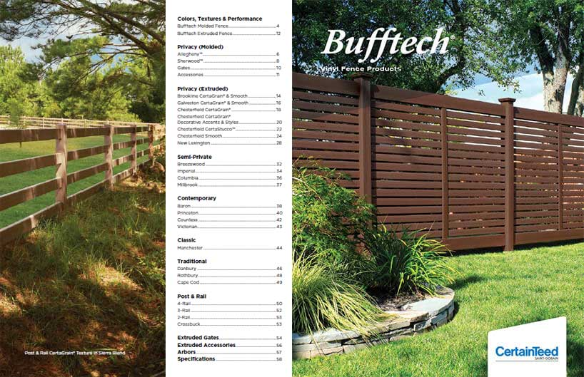 Bufftech Fences Brochure