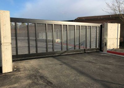24' x 6' Cantilever Slide Automatic Gate, 2 x 4 Frame. Welded 6 Gauge Mesh Infill 2 x 2 Verticals