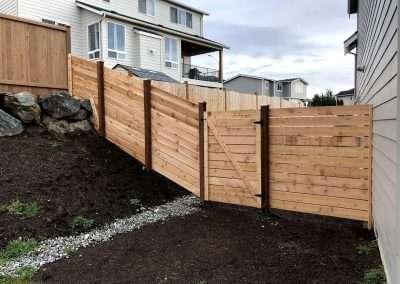 6' semi private horizontal cedar fence 1x6 #1 boards