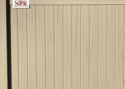 6' National Vinyl Products privacy fence, color Driftwood