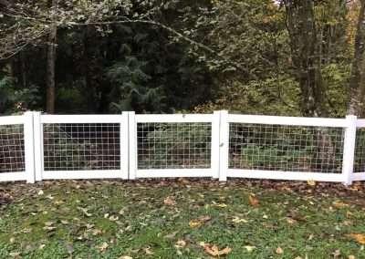 4' Hog Panel fence, white vinyl frame with 4x4 hog mesh panels