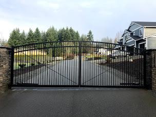 28' x 6' x 7' x 6' DD arch top automatic gate